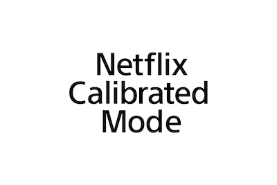 Logo trybu Netflix Calibrated Mode