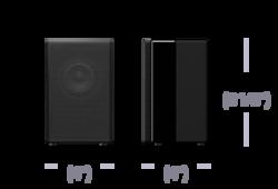 Bezprzewodowy głośnik tylny do modelu HT-ZF9: obraz