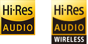 Logo Hi-Res Audio i Hi-Res Audio Wireless
